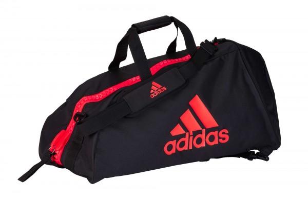 "adidas 2in1 Bag ""martial arts"" black/red Nylon, adiACC052"