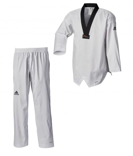 adidas Taekwondoanzug, adi Fighter Eco WT, schwarzes Revers