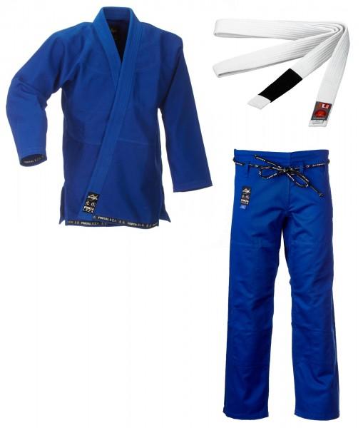 """Karate Anzug /""""to start/"""" black mit Gürtel weiß,100-170cm"""