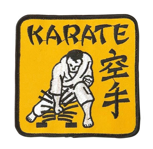 Patch Karate in gelb