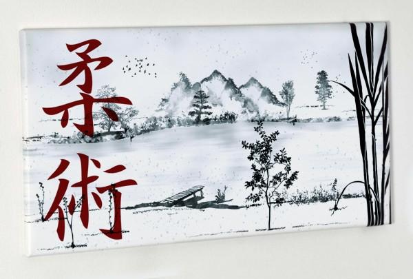 Leinwanddruck Ju-Jutsu Landschaft, 80x40 cm