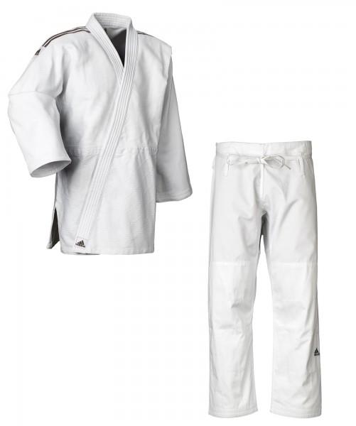 """adidas Judo-Anzug """"Contest"""" weiß/schwarze Streifen, J650"""