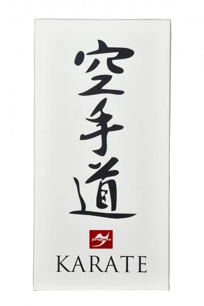 Leinwanddruck Karate Kanji, 80x40 cm