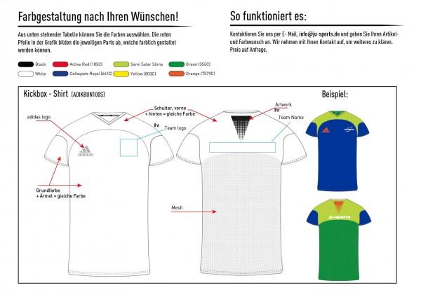 adidas Kickbox-Shirt nach Kundenwunsch, adiKBUN100S