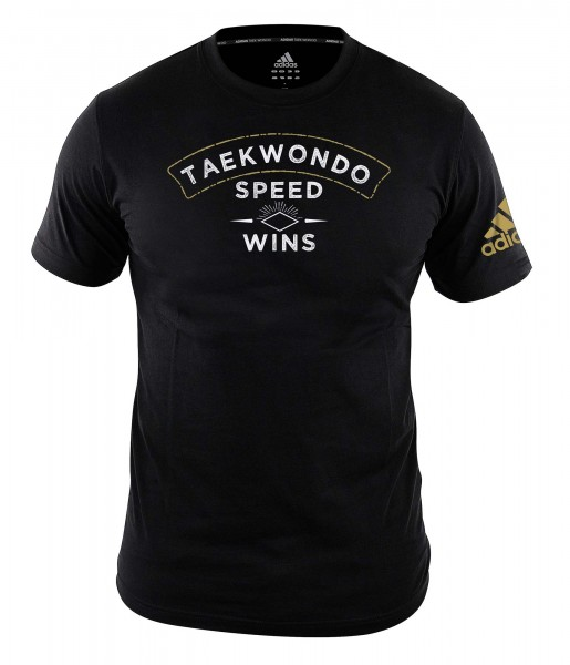 "adidas Community line T-Shirt Taekwondo ""Speed wins"" black, adiTCL01"