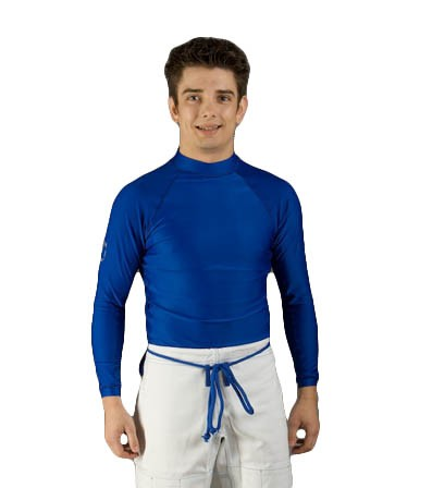 Rash Guard blau langarm