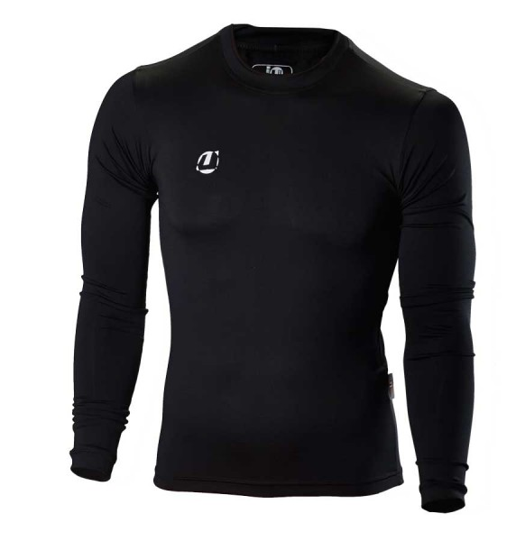 Compression Shirt langarm schwarz