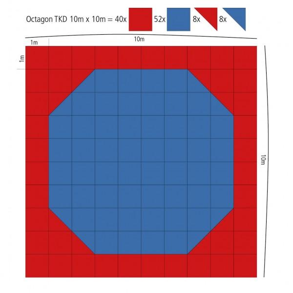 Taekwondo Oktagon Wettkampffläche 10m x 10m - 100 qm