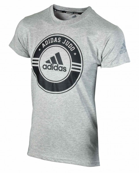 "adidas Judo Community Line Shirt ""Circle"" grey/black, adicsts01J"