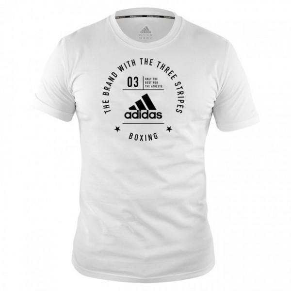 """adidas Community T-Shirt """"BOXING"""" white/black, adiCL01B"""