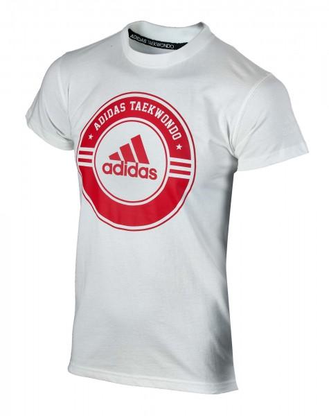"adidas Taekwondo Community Line Shirt ""Circle"" weiß/rot, adicsts01T"