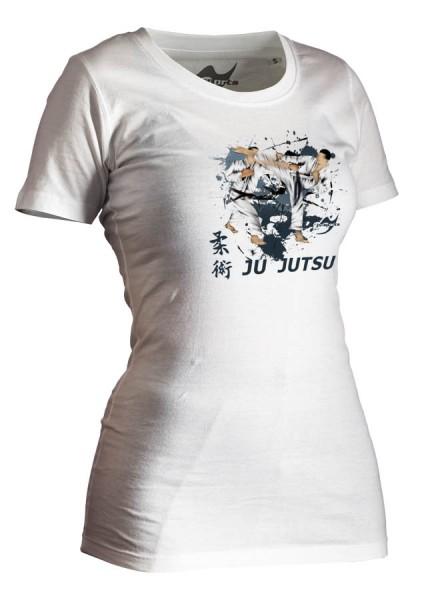 Ju-Jutsu-Shirt Artist weiß Lady