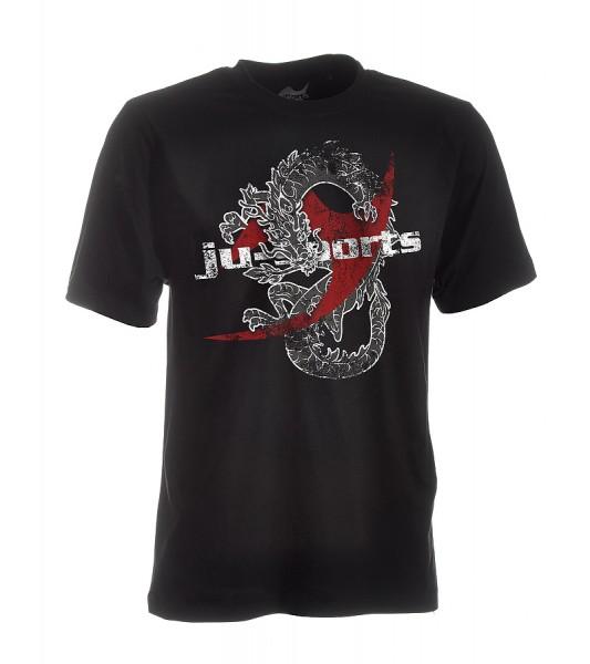 Dark-Line T-Shirt Dragon schwarz
