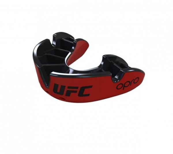 """OPRO """"UFC"""" Zahnschutz Silver - Red/Black, Senior"""
