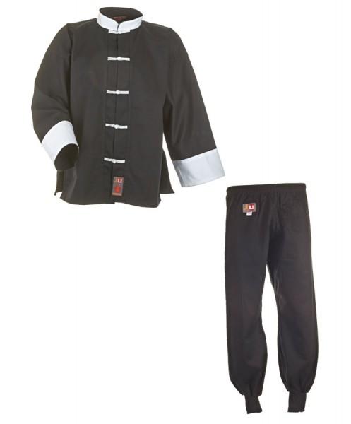 Kung Fu Anzug schwarz/weiß, Cotton