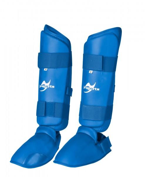 Schienbein-Spannschutz Karate blau