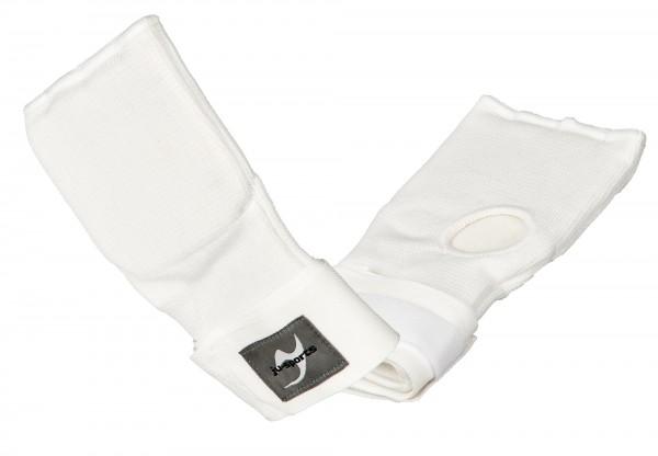 Innen-Boxhandschuhe mit Bandage Senior weiß