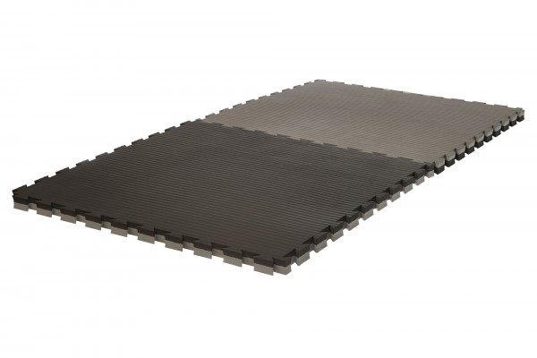 """Puzzlematte Pro """"Tatami"""" 4 cm schwarz/grau Wendematte"""