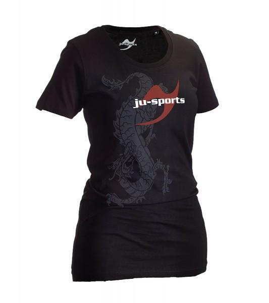 Dark-Line T-Shirt Ryuu schwarz Lady