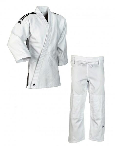 """adidas Judo-Anzug """"Training"""" weiß/schwarze Streifen, J500"""