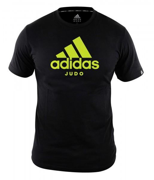 """adidas Community line T-Shirt Judo """"Performance"""" black/shock yellow, ADICTJ"""