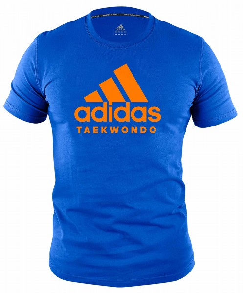 "adidas Community line T-Shirt Taekwondo ""Performance"" blue/orange, ADICTTKD"