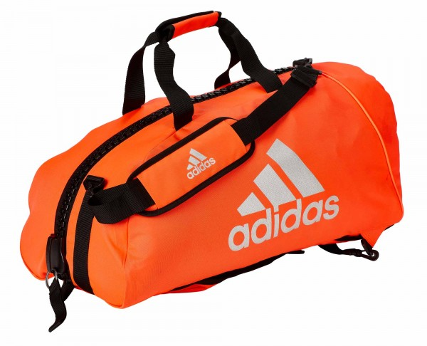 """adidas 2in1 Bag """"martial arts"""" red/silver Nylon, adiACC052"""
