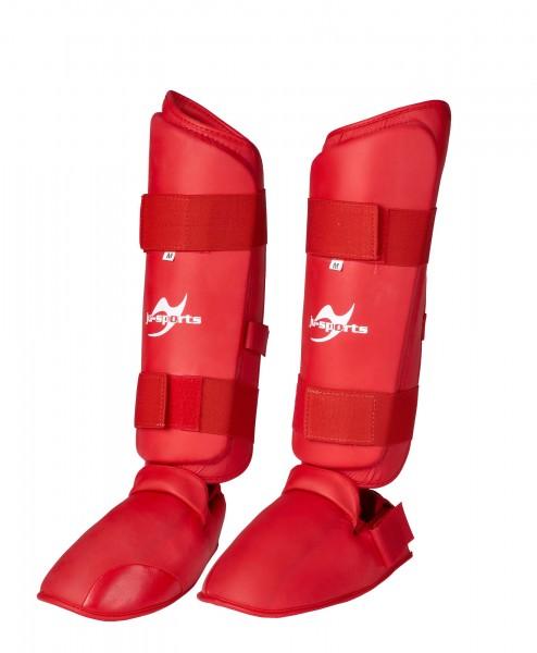 Schienbein-Spannschutz Karate rot